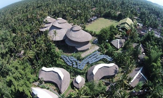 Aerial shot of Green School