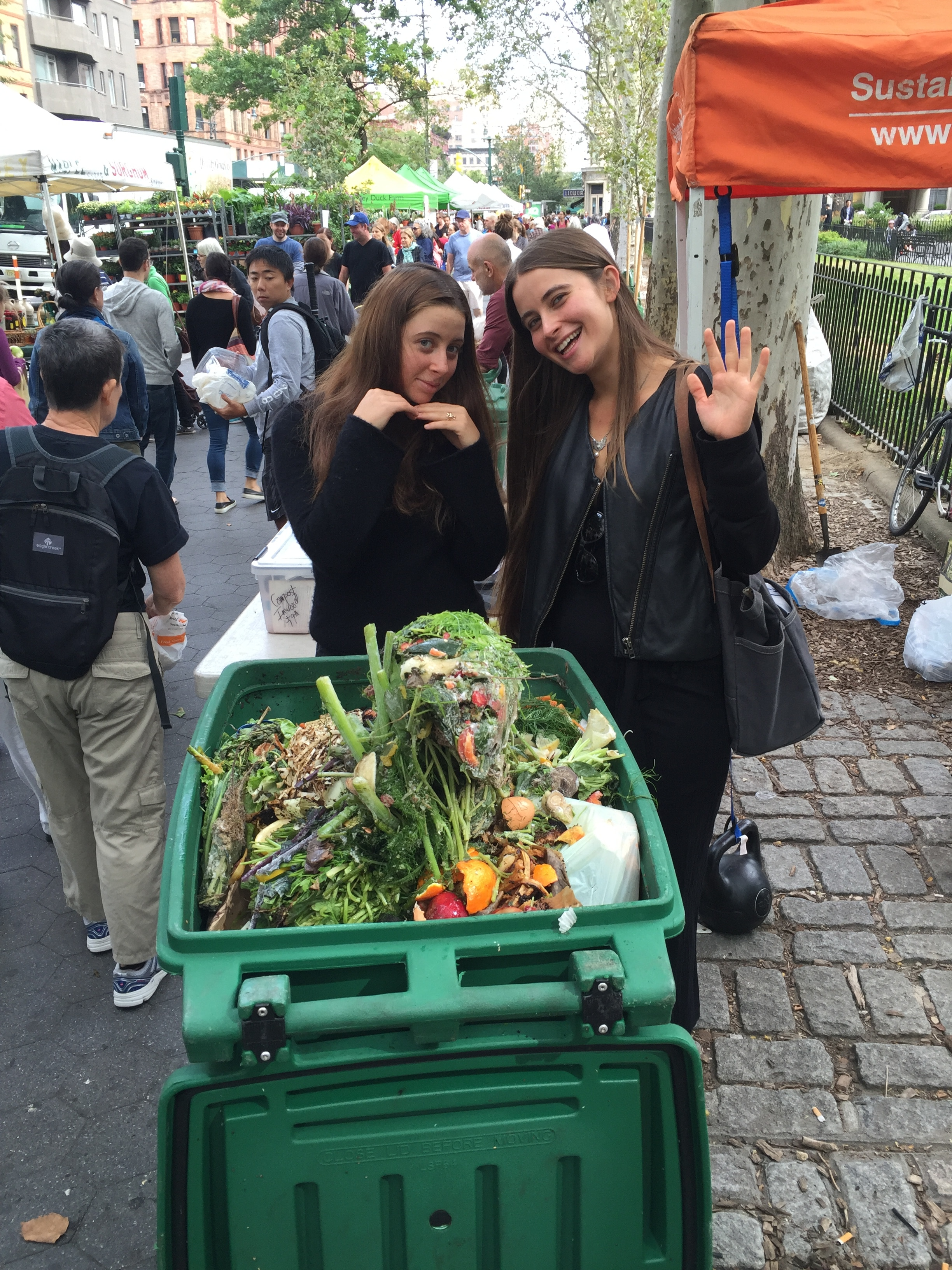 Chiara and Carina and their compost