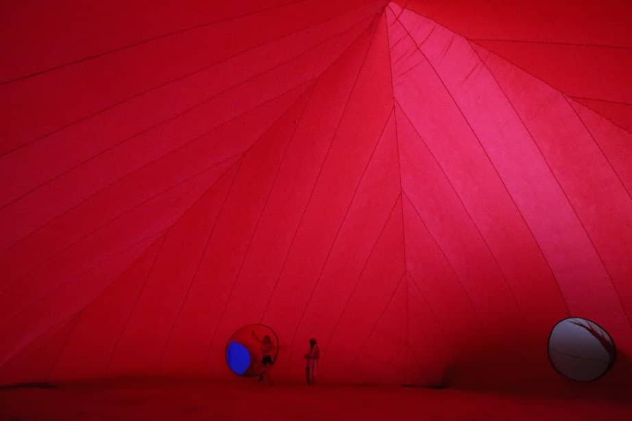 Inside the inflatable by Chiara Hardy