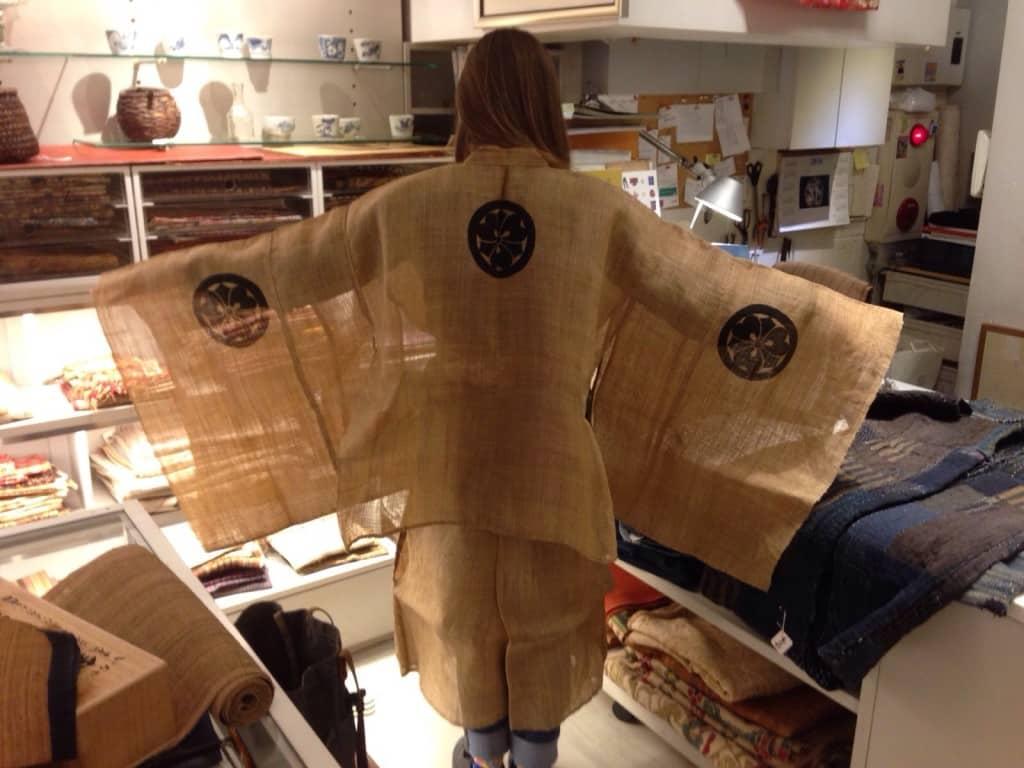 Antique kimono modeled by Carina