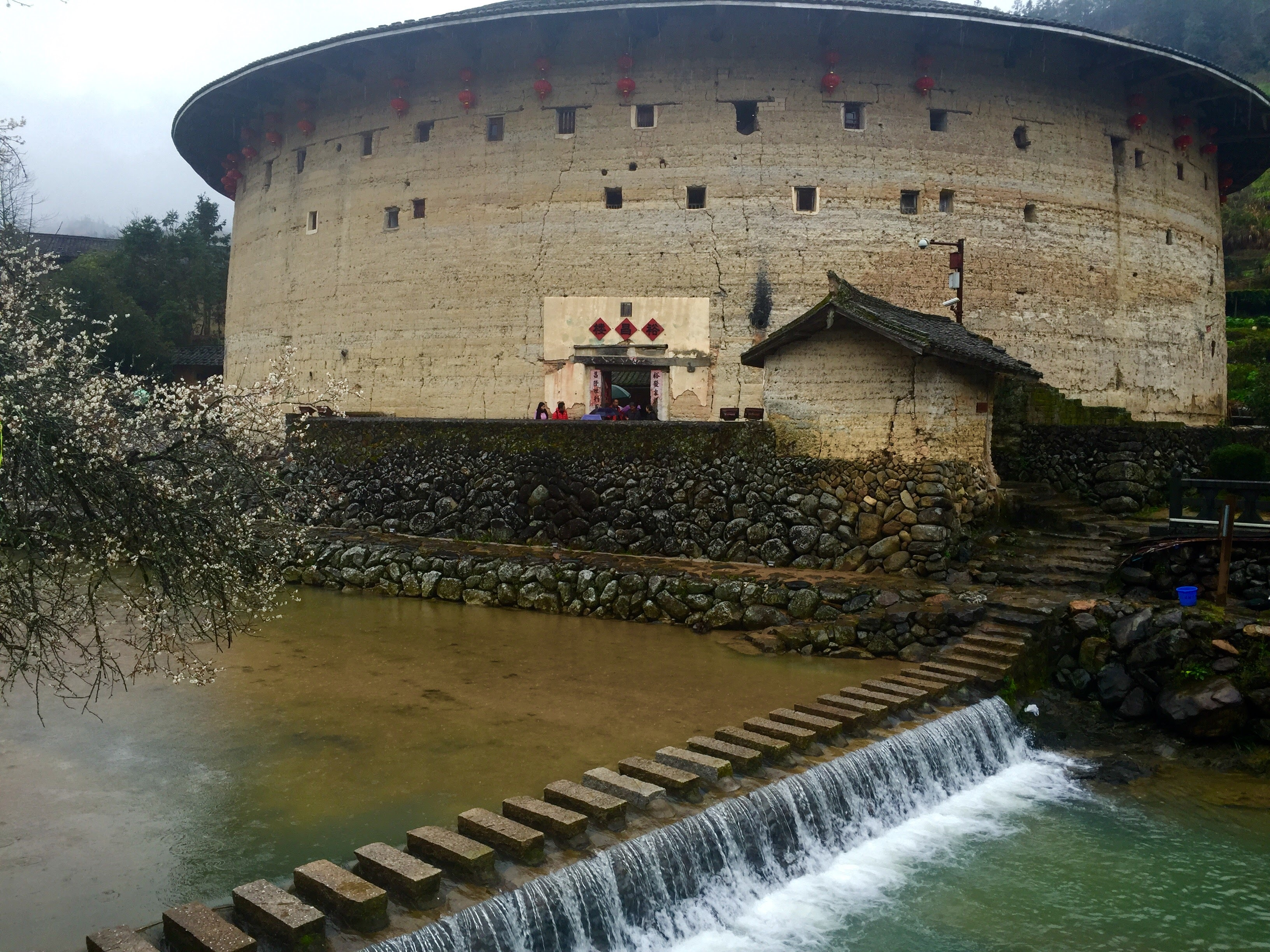 China earthen houses (tulou)