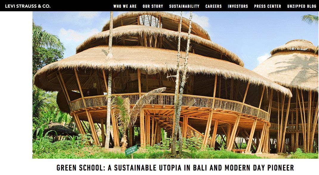 Green School on Levi Strauss blog