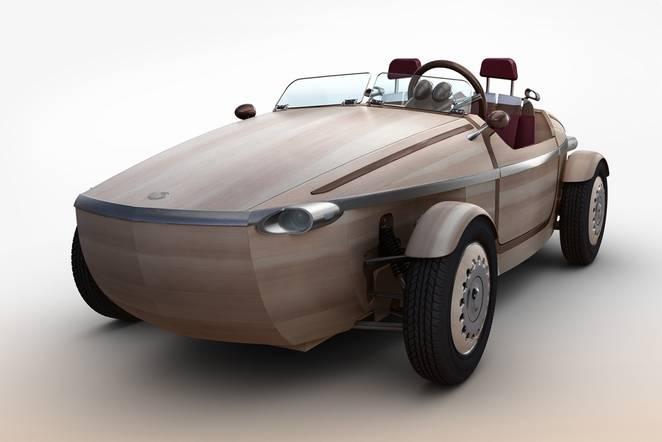 toyota wooden car