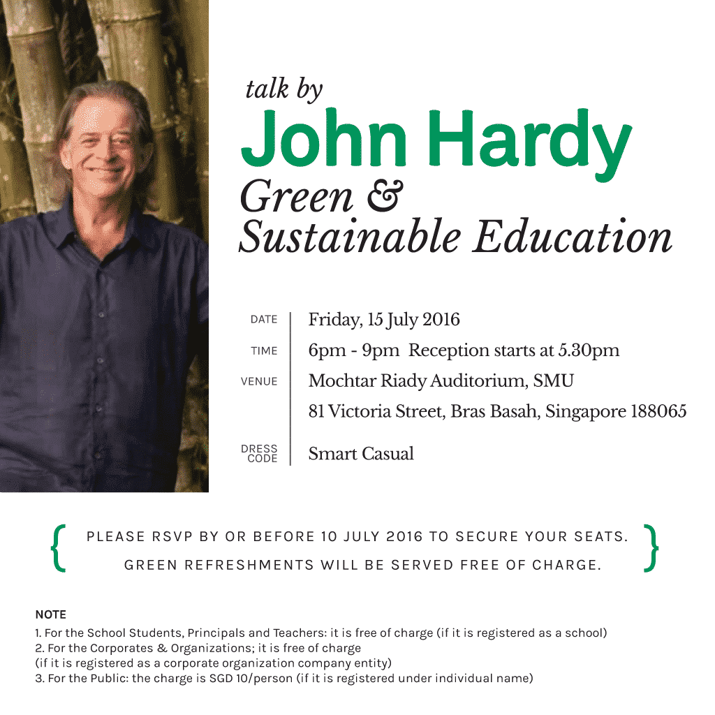 John Hardy speaking in Singapore