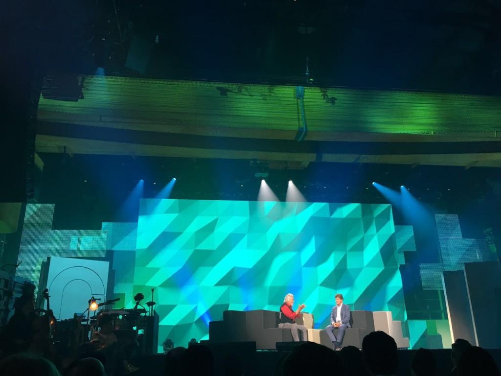 David Suzuki on stage at C2 Montreal