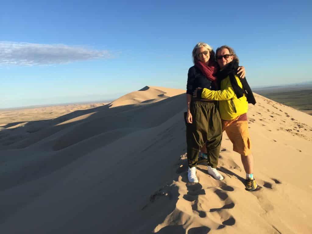 John Hardy and Cynthia Hardy in Mongolia
