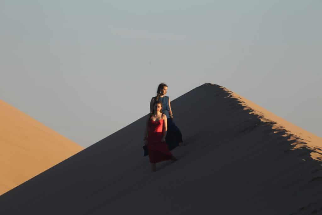 Carina and Chiara in Mongolia