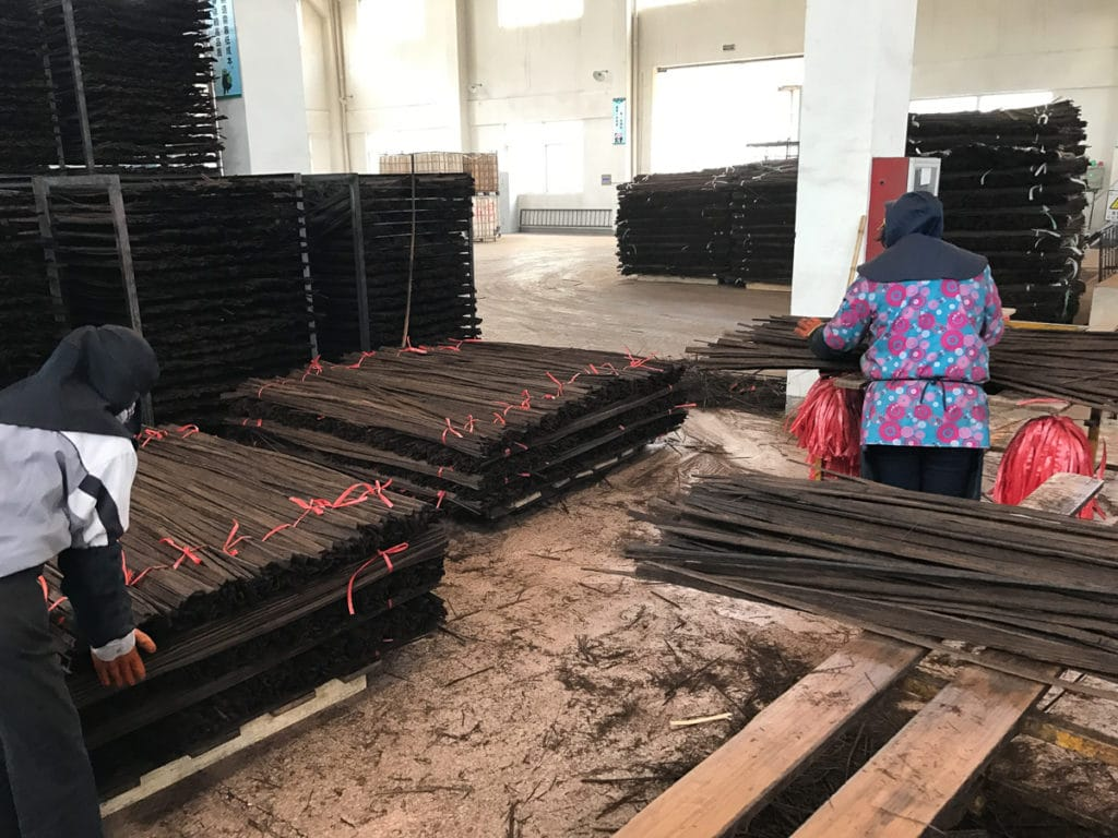 Carbonized bamboo lumber in China
