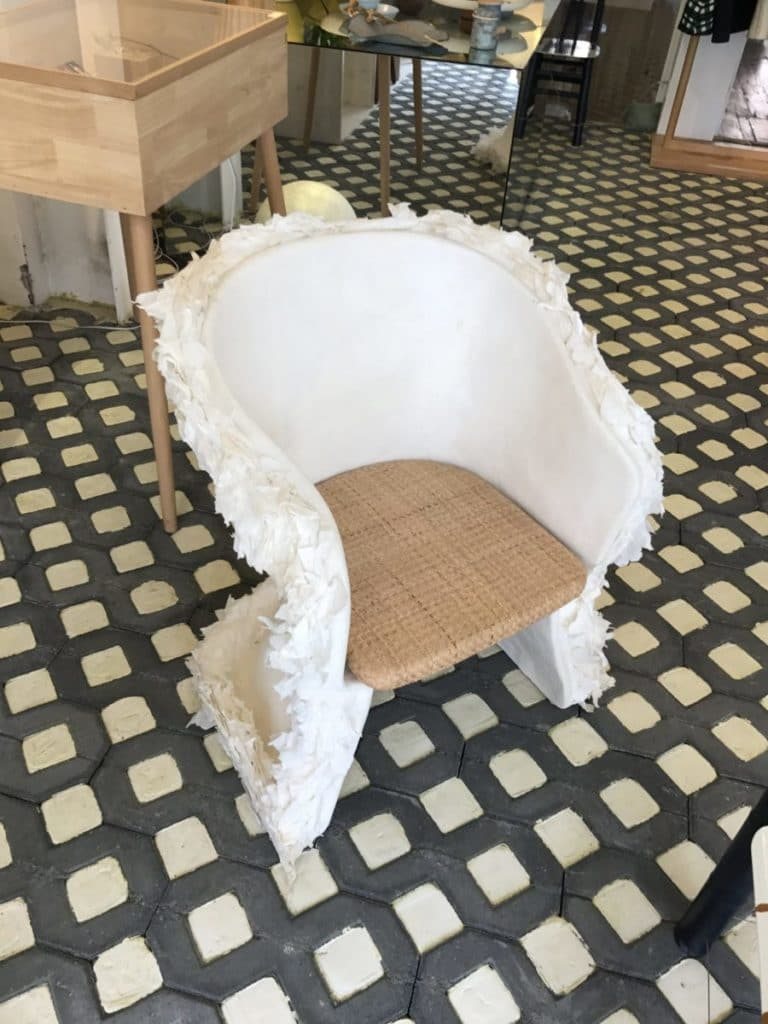 Bamboo pulp chair