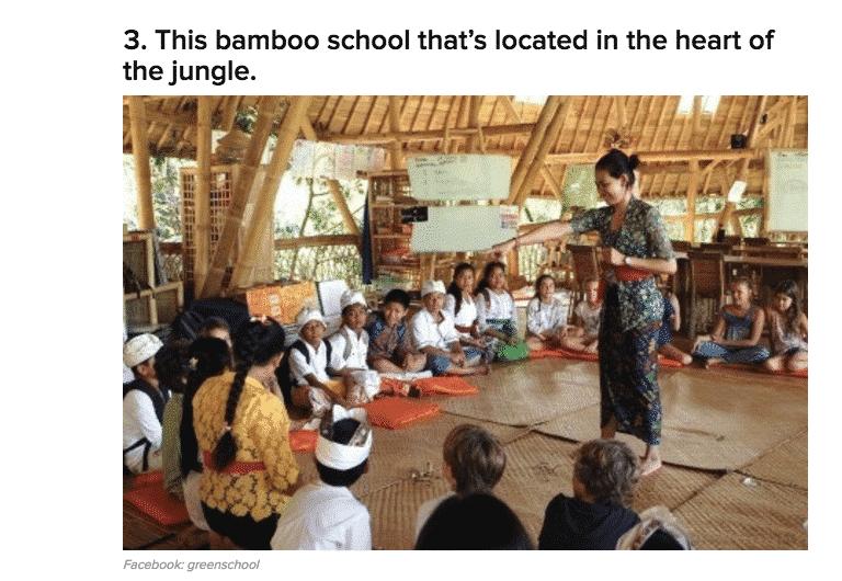 Green School in Buzzfeed