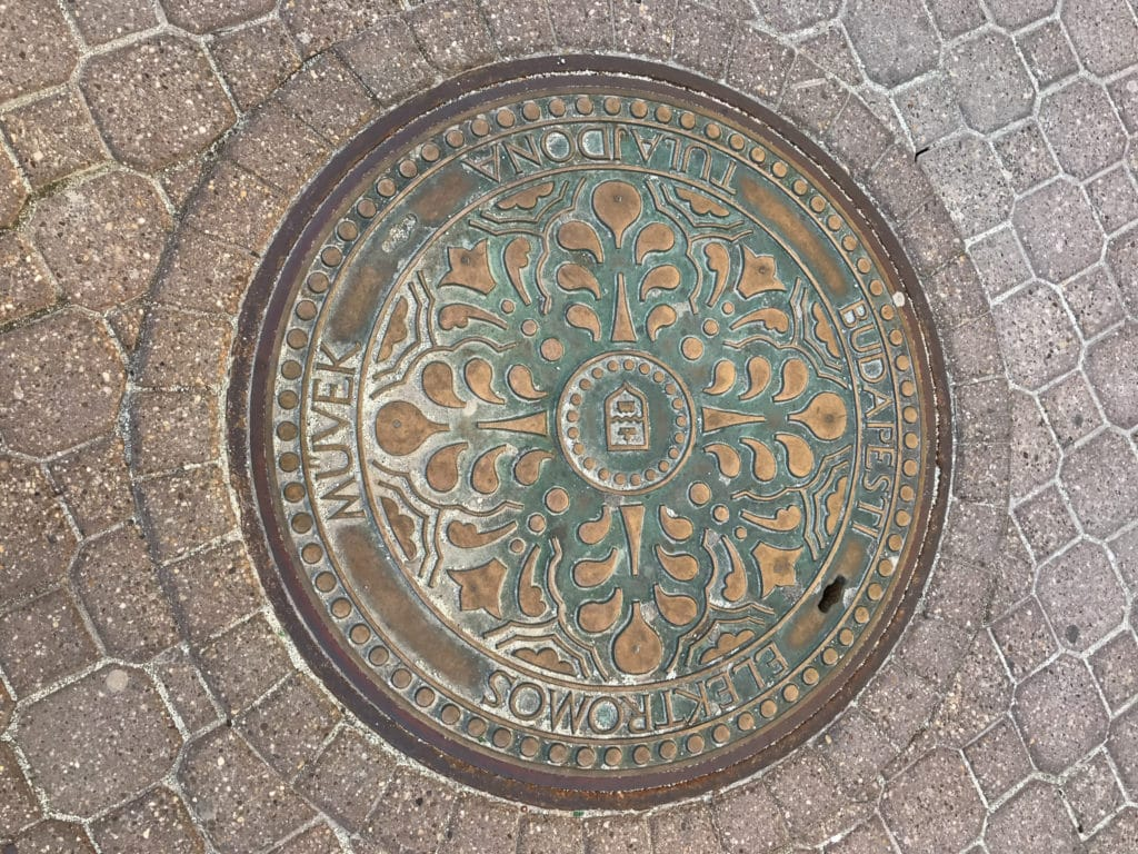 Budapest manhole cover